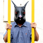 Back Rabbit Head Mask