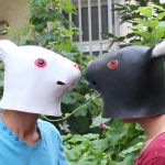 White/Back Rabbit Head Mask