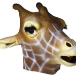 Multicoloured Giraffe Mask