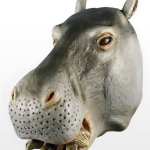 Gray Hippo Mask