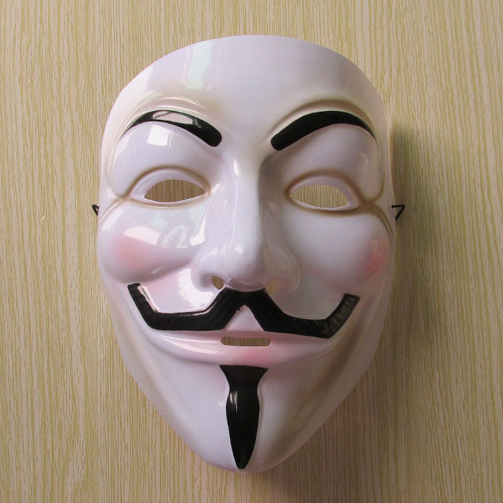 White V for Vendetta Mask