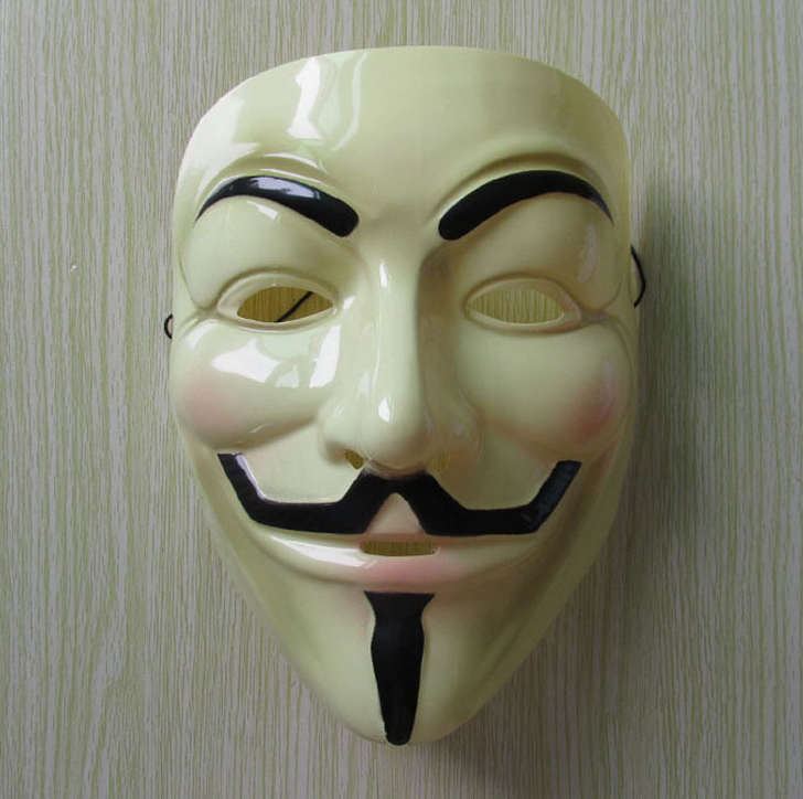 Yellow V for Vendetta Mask