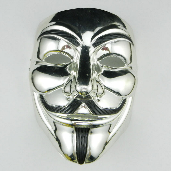 Silver V for Vendetta Mask